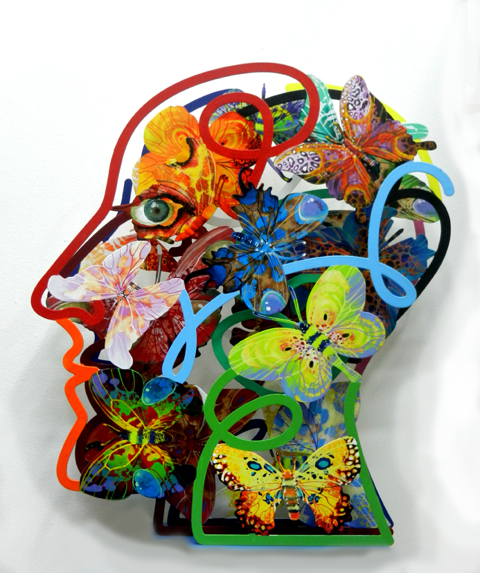 david gerstein open head wall sculptures horizon arts miami. Black Bedroom Furniture Sets. Home Design Ideas